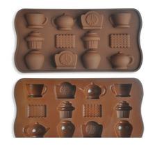 Forma Molde Silicone Chocolate Tema Chá Das Cinco