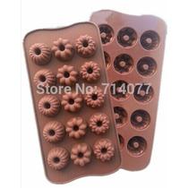 Molde Silicone Gelo Ou Chocolate Formato Flores