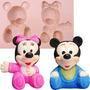 Molde De Silicone Para Biscuit Casa Da Arte - Modelo: Mickey