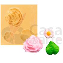 Molde De Silicone Para Biscuit Casa Da Arte - Modelo: Rosa E