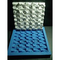 Forma Silicone Mosaico 3d Gesso Canjiquinha 27x29,5 Cm