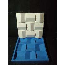 Molde De Silicone Para Mosaicos Em Gesso Telhadinho 30x30 Cm