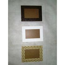 Kit Com 10 Molduras 10x15 Nas Cores Tabaco, Bege E Branca