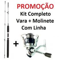 Kit Molinete Marine 3 Rolamentos +vara 150m+ Linha+anzol