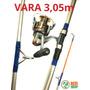 Kit Pesca Praia Vara Super Cast 3,05m + Molinete Tucson 6000