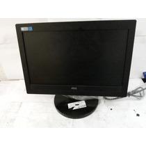 Monitor De Lcd Aoc 15 Polegadas Widescreen Funcionando