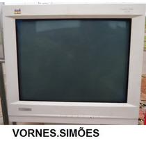 Monitor Crt 21 Pol. Tela 200% Plana View Sonic Usado, R$229