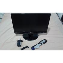 Monitor Lcd Hp 18,5 Polegadas Hpl185b + Cabo Vga + Fonte Biv