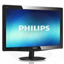 Monitor Led Philips 18.5´ Widescreen 196v3l - Black Piano