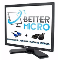 Monitor Lcd Dell 19 Pol P190st C/ Cabos * Base Ajustavel