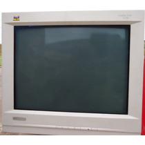 Monitor Crt 21 Pol. Tela 200% Plana View Sonic Usado, R$229,