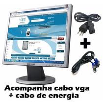 Monitor Lcd 15 Samsung 540n (acompanha Cabos) C/ Garantia
