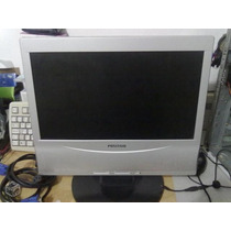 Monitor Lcd 15 Widescreen Positivo Prata Multimidia + Cabos