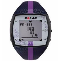 Relógio Monitor Cardíaco Polar Ft7 Azul C/ Lilás + Cinta