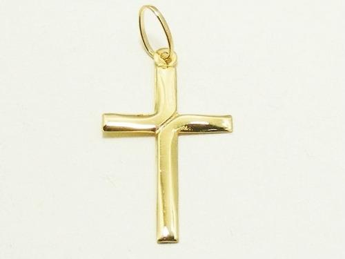 Monreale Lindo Pingente Em Ouro 18k Crucifixo Com Detalhe