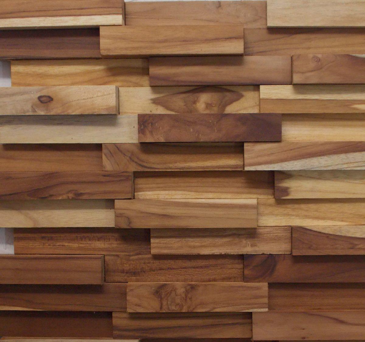 Mosaico Madeira Filete Teca Lisa Pastilhas 30cm X 30cm R$ 22 90  #42271B 1200x1125