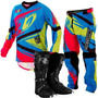 Kit Conjunto Motocross Bota Calça Camisa Insane 4 Pro Tork
