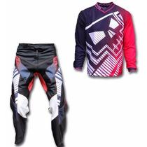 Kit Conjunto Roupa Motocross Trilha (skull Racing)