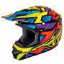 Capacete Fly Kinetic Blocks Out Size G (59-60cm) Trilha Fox