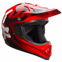 Capacete Motocross Fox Vf1 Vermelho / Preto Off Road