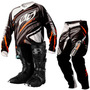 Conjunto Kit Motocross Trilha Insane 3 + Bota.