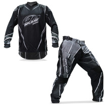 Kit Roupa Motocross Insane 100% Preto Camisa Calça Trilha M