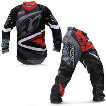 Kit Roupa Para Motocross Pro Tork Insane 4 Vermelha E Cinza