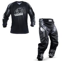 Kit Roupa Motocross Pro Tork Insane In Black Calça Camisa