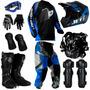 Kit Equipamento Pro Tork Insane Piloto Trilha Motocross