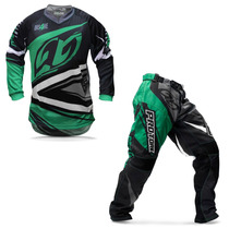 Kit Roupa Motocross Trilha Protork Insane 4 Verde Cinza M