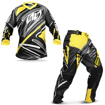 Kit Roupa Motocross Insane 3 Preto Amarelo Calça Camisa M
