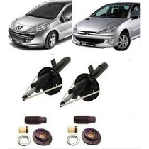 Par Amortecedores + Kit Dianteiro Peugeot 206/ 207 1ª Linha