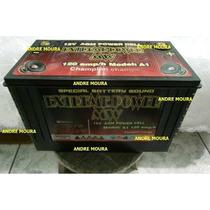 Bateria De Gel Agm 120 Amp Para Som Automotivo