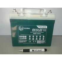 Bateria Gel Global 12v 33ah - Ciclo Profundo - Cadeira Rodas