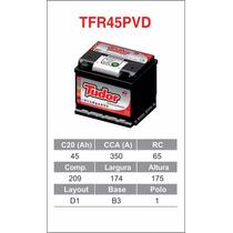 Bateria Tudor 45 Amperes Qualidade A Toda Prova!