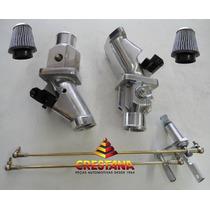 Kit Coletor De Injeção Fusca Motor A Ar 40mm Com Tubo