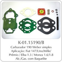 Kit Carburador Fiat 147/uno - Gm Monza Weber