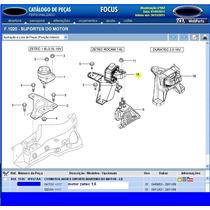Coxim Direito Dianteiro D Motor Zetec 1.6 Focus 03a09