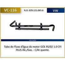 Tubo Agua Motor Vw Gol 1.0 95/ Carburado - Cht Com Ar Quente
