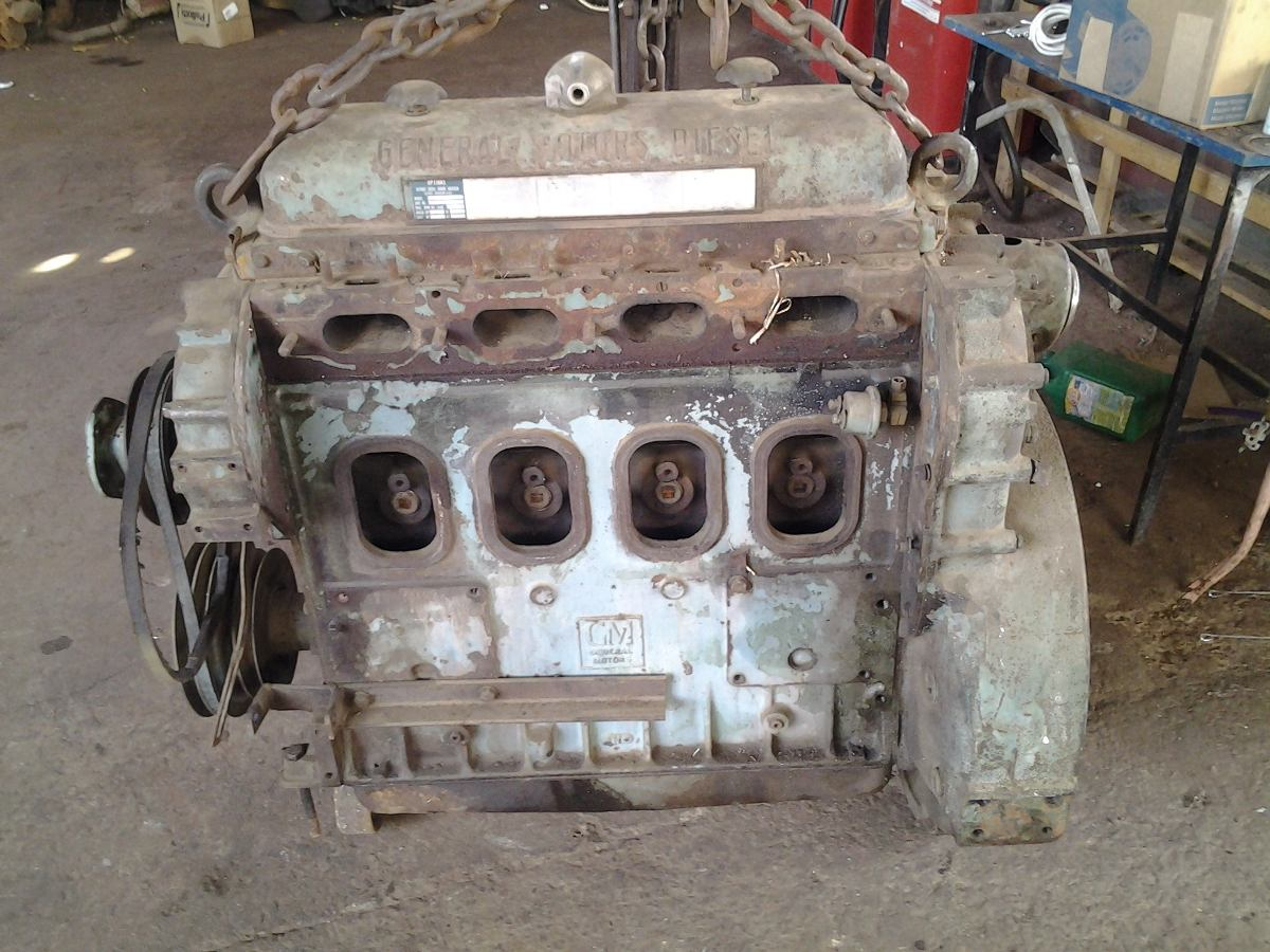 Motor Detroit Diesel Gm 4 Cilindros 2 Tempos R