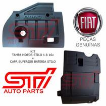 Kit Tampa Motor Do Stilo 1.8 16v Capa Bateria Original Fiat