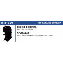 Kit Capa Correia Dentada Palio Weekend 1.0 16v 2001 A 2003