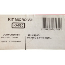 Kit Correia Alternador Poly V Picasso 2.0 16v Gates