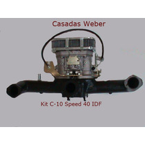 Carburador 40 Idf Speed Igual Weber C/ Coletor Adm. P/ C-10