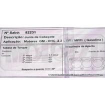 Junta Cabecote Gm Omega/s-10/vectra 2.2 - Gasolina