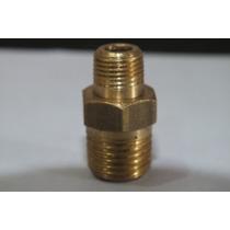 Niple Macho X Macho - 1/4 Npt X 1/8 Npt - Aço - Ar Comprim