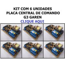 Kit 6 Com Placas Central De Comando G3 Garen Unisystem Seg