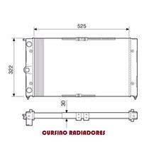 Radiador Ford Pampa / Belina / Del Rey 1.8 89-95 C/s Ar