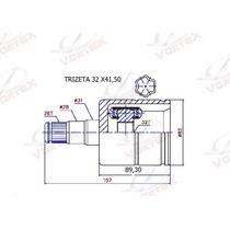 Tulipa E Trizeta A4 / A3 / Jetta 2.5 / Golf / Bora 32x41,5