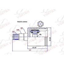 Kit Tulipa A4 /passat 2.0 Turbo 04/... Trizeta 34x43